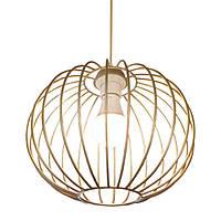 """Подвесной металлический светильник, современный стиль, loft, vintage, modern style """"BALL-G"""" Е27 цвет золото"""