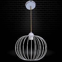 """Подвесной металлический светильник, современный стиль, loft, vintage, modern style """"BALL-W"""" Е27 белый цвет"""