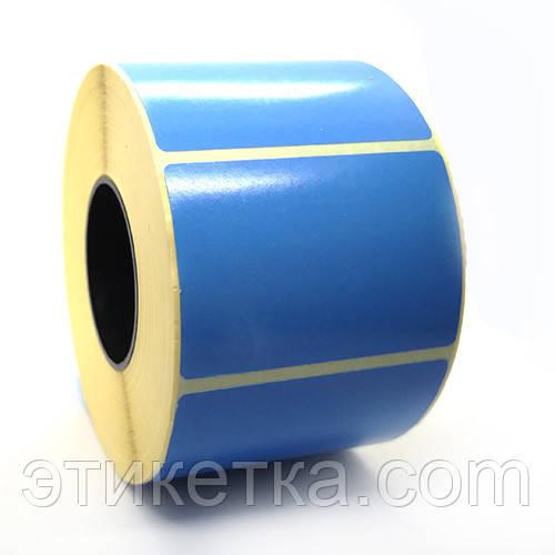 Этикетка T.Eco 58x40 синяя