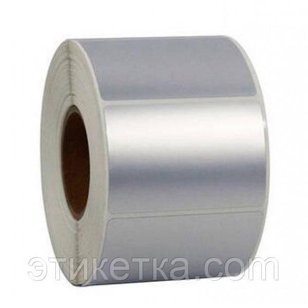 Полипропиленовая этикетка 58x40 серебро
