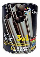 Эмаль-грунт по ржавчине 3 в 1 ТМ Colorina чорная RAL 9005 2.5 кг