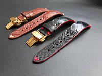 Ремешок для часов,из экзотической кожи Страуса
