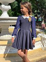 Школьное платье с кружевом девочке, фото 1