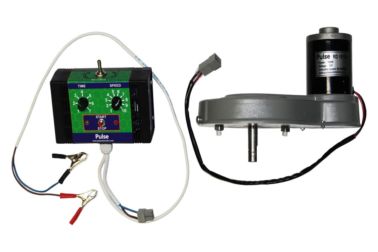 Электро-привод ДЛЯ МЕДОГОНКИ Pulse RD 1012 A (12 вольт, 100 Ватт) — для редукторных медогонок