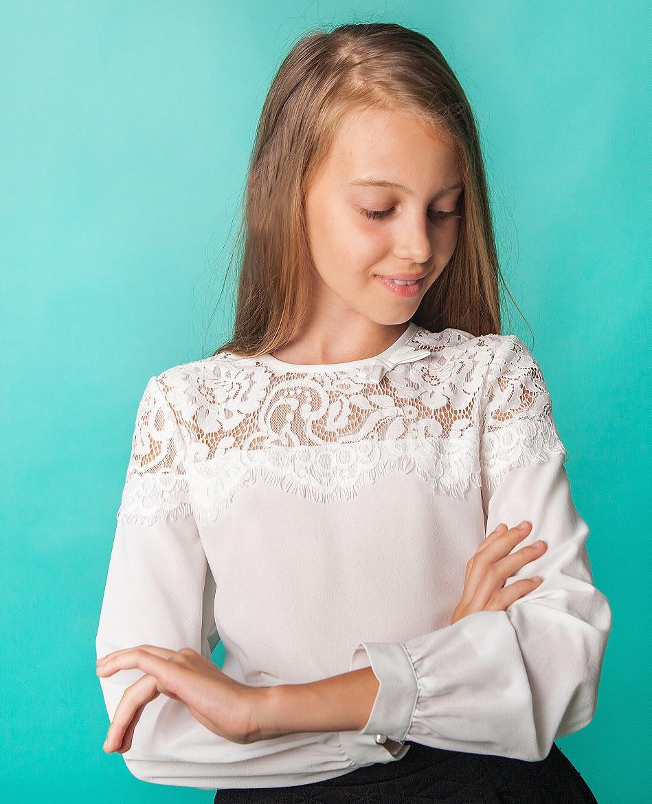Блузка Свит блуз 8003 молочный р.140