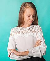 Блузка Свит блуз 8003 молочный р.146, фото 1