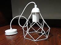 """Подвесной металлический светильник, современный стиль, loft, vintage, modern style """"RUBY-W"""" Е27  белый цвет"""