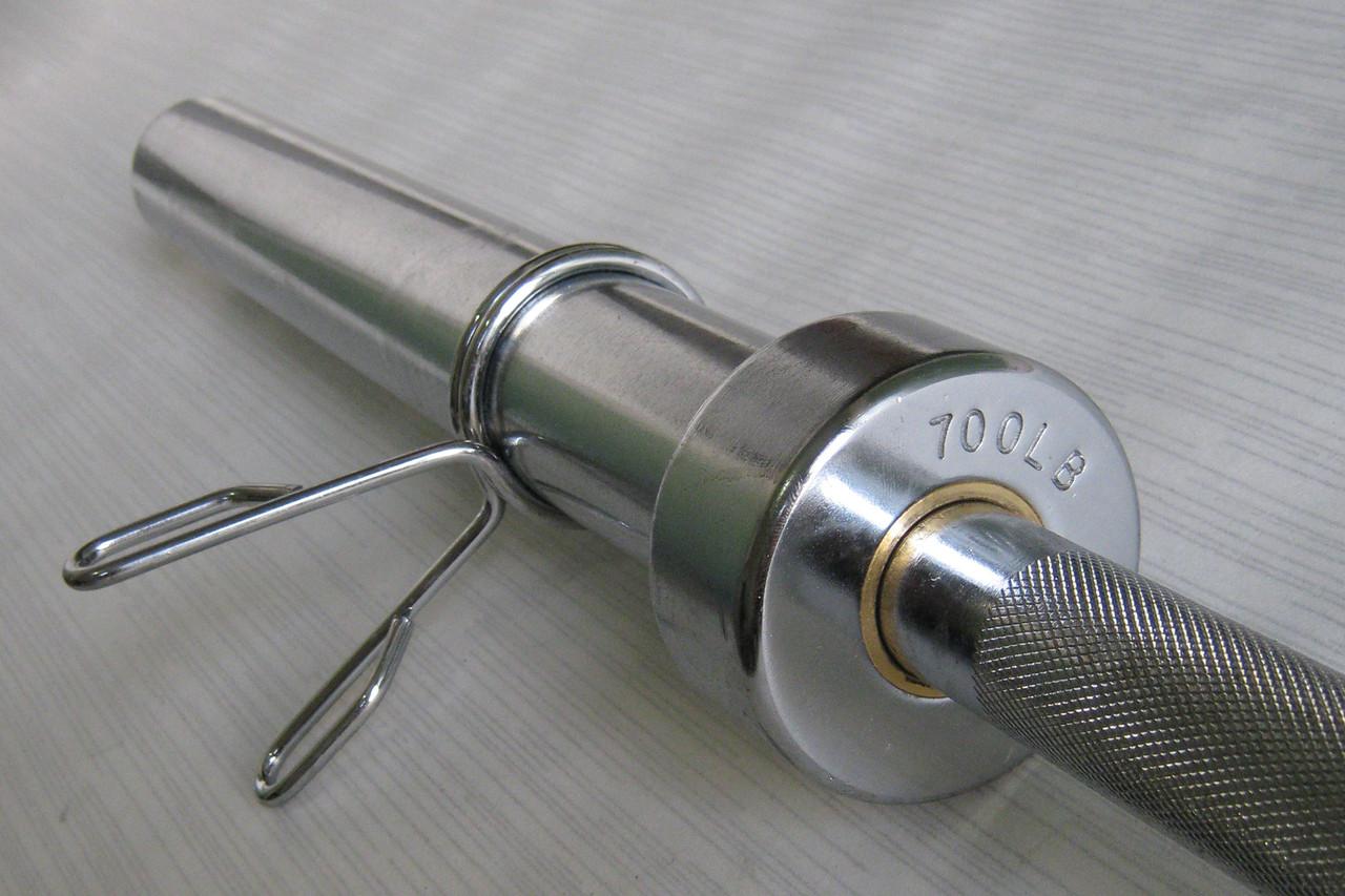 Гриф для штанги олимпийский 2,2 м до 315 кг (пружинные замки)