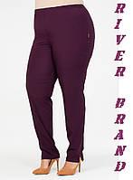 Завужені жіночі штани у великих розмірах з костюмки 10mbr2088