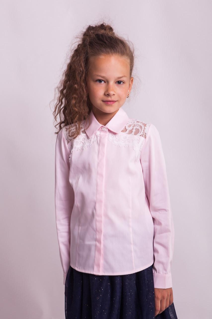 Блузка Свит блуз мод. 7007  с кружевом на плечах р.140