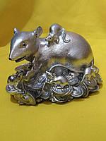 Статуэтка Крыса с крысенком на монетах
