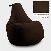Кресло мешок груша Оксфорд  65*85 см, Цвет Коричневый , фото 1
