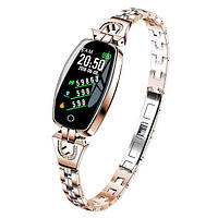 Lemfo H8 женский смарт браслет с тонометром и пульсометром с Bluetooth. Гарантия 12 месяцев
