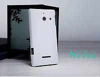 Чехол Nillkin для Huawei Ascend W1 белый (+пленка)