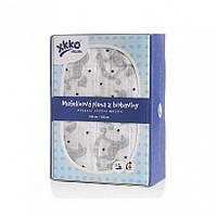 Пеленки детские из органического хлопка  XKKO 120х120  1 шт. Серебряная лошадка-качалка