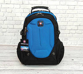 Вместительный рюкзак SwissGear Wenger, свисгир. Черный с синим. 35L / s6611 blue