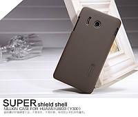 Чехол Nillkin для Huawei U8833 / T8833 Ascend Y300 коричневый (+пленка)
