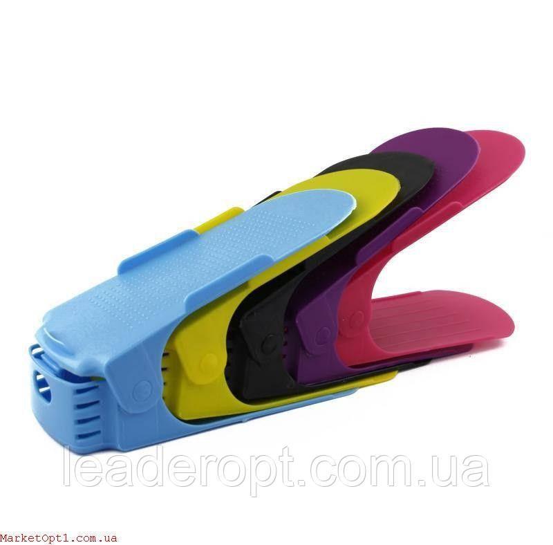 [ОПТ] Регулюється органайзер для взуття кольоровий