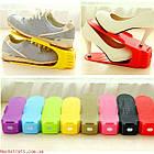 [ОПТ] Регулюється органайзер для взуття кольоровий, фото 5
