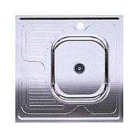Мойка для кухни накладная квадрат правая 600х600х150 Asil Krom 0.4 60x60 R матовая, фото 1