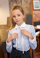 Блузка рубашка Свит блуз  мод.5073  голубая р.134
