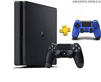 PlayStation 4 Slim 1Tb Rus Black (СUH-2208B) + геймпад Blue