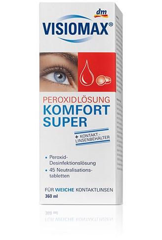 neue Season perfekte Qualität billiger VISIOMAX Peroxidlösung Komfort Super раствор для очистки линз  350мл/45шт/кейс