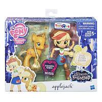 Моя Маленька Поні Эпплджек мініс поні і лялька MLP Elements of Friendship Applejack Pony Doll and Set