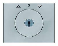 Накладка с замком для жалюзийного замочного выключателя Berker K.5 Нержавеющая Сталь (10797104)