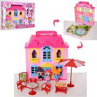 Домик для кукол Лол / LOL / Двухэтажный Лол дом с куклами Лол -3 шт / Дом для кукол Лол 588-4 - аналог