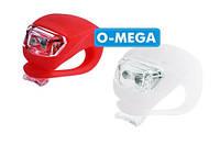 Велосипедный фонарь HJ 008-2 (red+white)