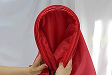Надувной шезлонг Ламзак, биван, матрас Цвет Красный, фото 2
