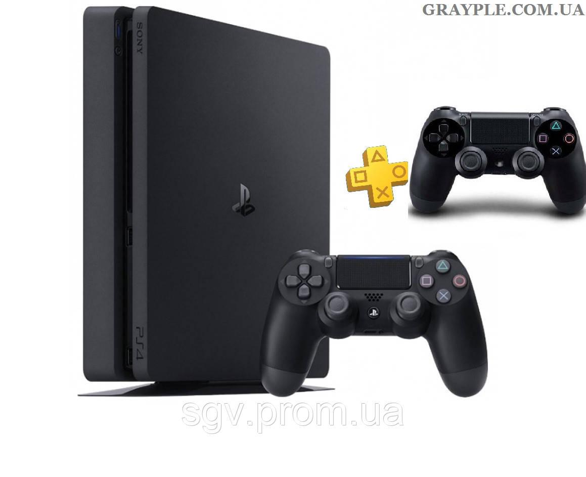 PlayStation 4 Slim 1Tb Rus Black (СUH-2208B) + геймпад Black
