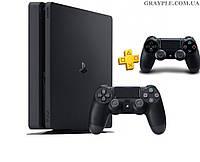 PlayStation 4 Slim 1Tb Rus Black (СUH-2208B) + геймпад Black, фото 1