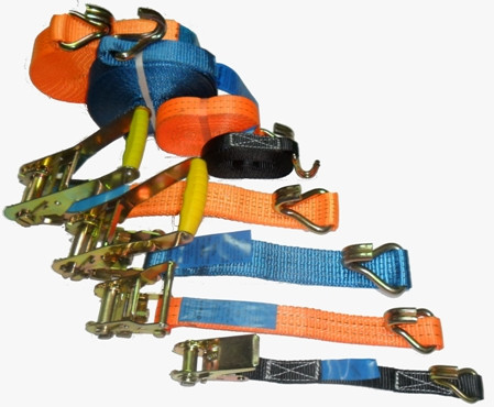 Ремни крепежные стяжные для фиксации груза (рэтчеты)