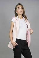 Жилет женский молодежный без подкладки розовый (Жилет жіночий без підкладки рожевий), фото 1
