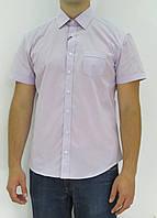 Рубашка мужская Davanti.Короткий рукав,приталенный силуэт,декоративная вставка на спине. Разм.M-XXL.