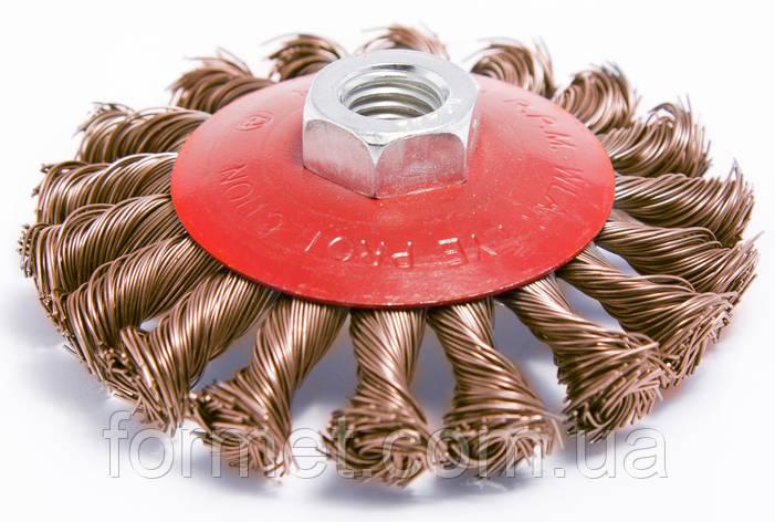 Щетка конусная плет.пров.100мм М14 SPRUT, фото 2