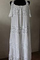 Платье женское кружевное удлиненное