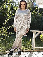 Женский бархатный спортивный костюм 03604