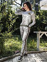 Женский бархатный спортивный костюм 3605