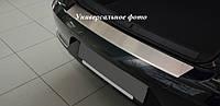 Защитная хром накладка на задний бампер (планка без загиба) bmw x1 e84 (бмв х1 е84) 2009г+
