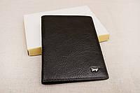 Кожаная обложка на паспорт Braun Buffel черная 1-619