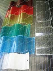 Пластиковый шифер волнопласт синий