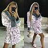 Плюшевый домашний халат с капюшоном