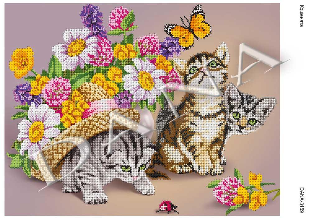 Схема для вышивки Котята