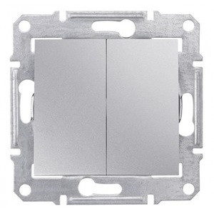Выключатель 2- кл Алюминий Sedna SDN0300160