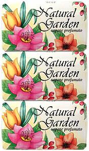 Набор Мыла Nesti Dante Natural Garden sapone profumato (Природный сад - душистое мыло) 3 шт*125 грамм