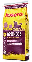 Сухой корм Josera Optiness для собак, с пониженным содержанием белка 15кг