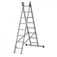Лестница двухсекционная раскладная ELKOP VHR T 2x9 ступеней
